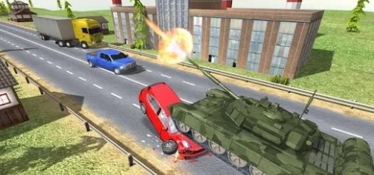 城市坦克交通游戲圖2