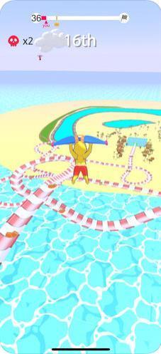 水上乐园滑行大作战游戏图1