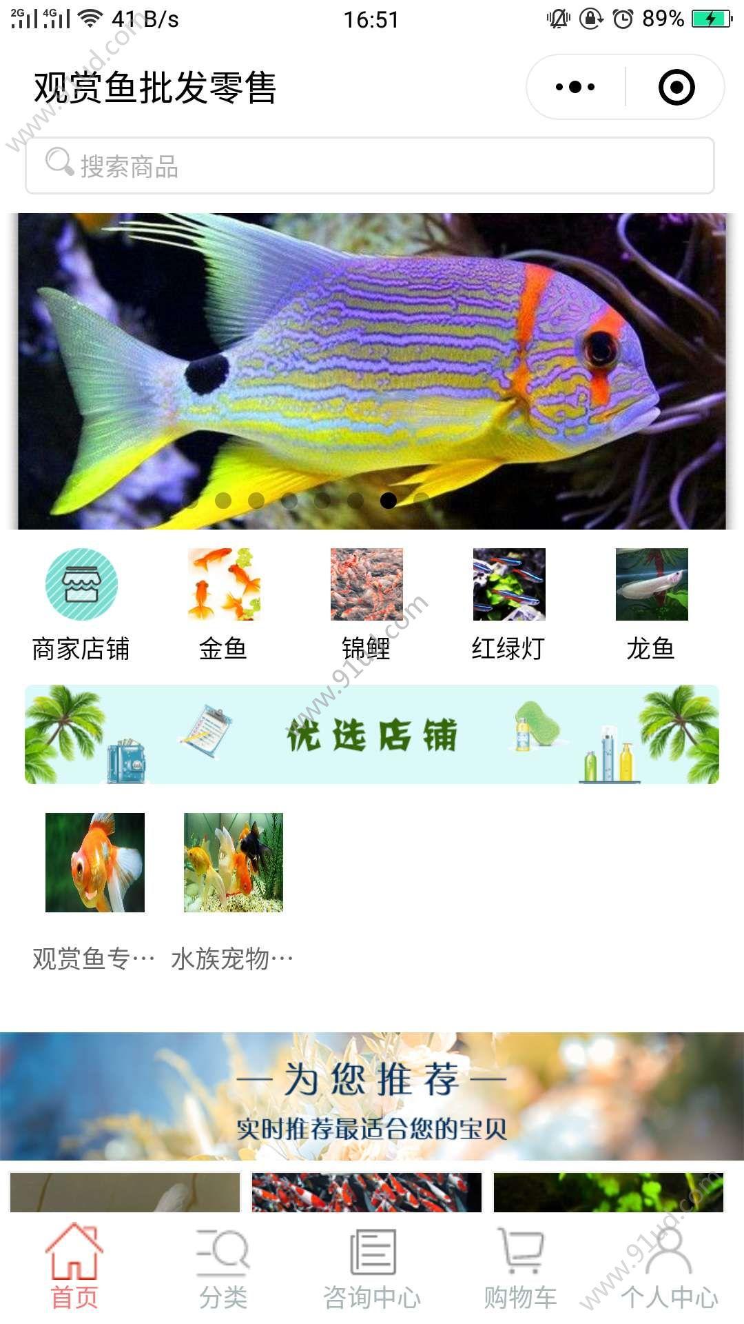 观赏鱼批发零售小程序截图